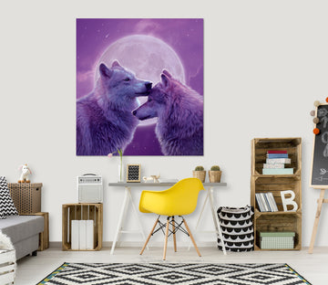 3D Loving Wolves 049 Vincent Hie Wall Sticker