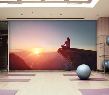 3D Peak Yoga 286 Wall Murals