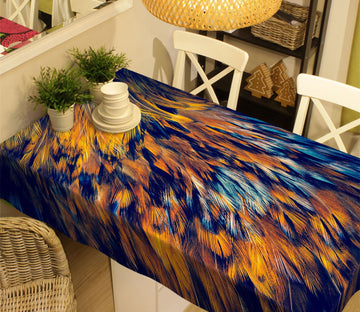 3D Golden Feather 11 Tablecloths Wallpaper AJ Wallpaper