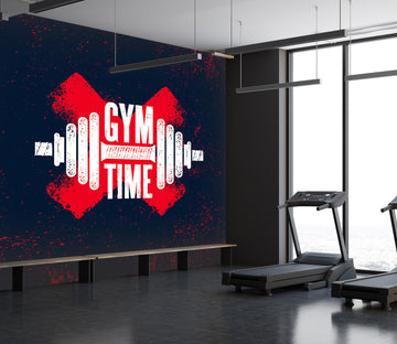 3D Fitness Time 293 Wall Murals