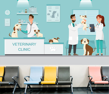 3D Veterinary Dog 335 Wall Murals