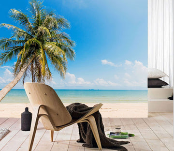 3D Beach Coconut Tree 21 Wall Murals Wallpaper AJ Wallpaper 2