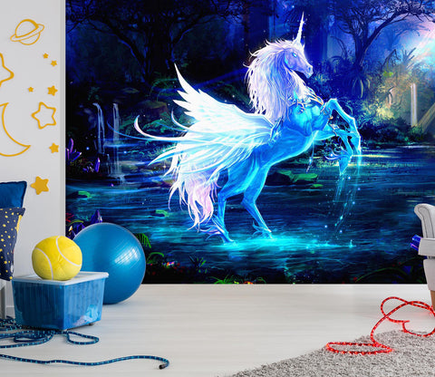 3D Dream Unicorn 010 Wall Murals