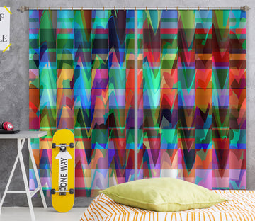 3D Color Waves 71055 Shandra Smith Curtain Curtains Drapes