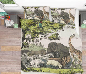 3D Animal World 2101 Andrea haase Bedding Bed Pillowcases Quilt Quiet Covers AJ Creativity Home