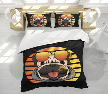 3D Dog Sunglasses 64006 Bed Pillowcases Quilt