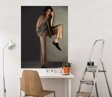 3D Playful Pose 022 Marco Cavazzana Wall Sticker