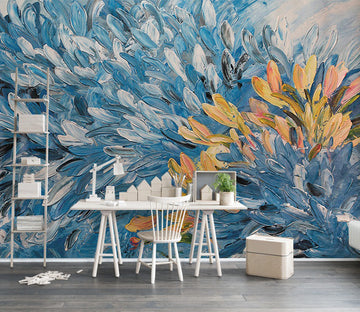 3D Oil Painting Feather WC382 Wall Murals