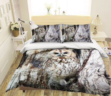 3D Owl 1932 Bed Pillowcases Quilt