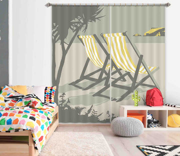3D Polzeath Deckchairs 132 Steve Read Curtain Curtains Drapes