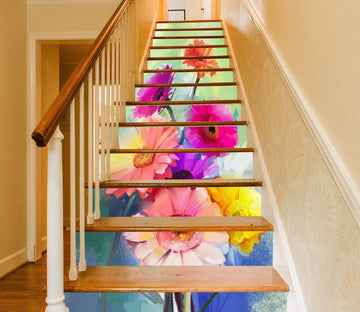 3D Flowers 764 Stair Risers Wallpaper AJ Wallpaper