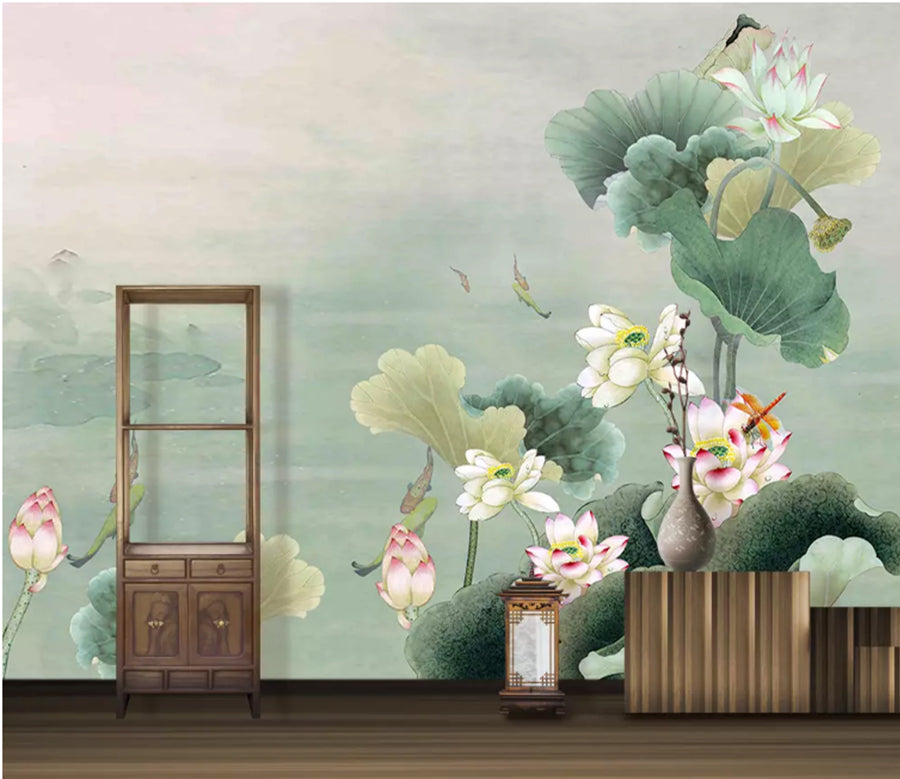3D Lotus Pond 2007 Wall Murals