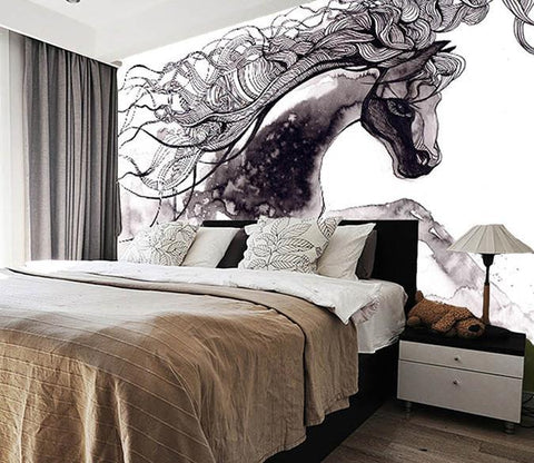 3D Abstract Horse 189 Wall Murals Wallpaper AJ Wallpaper 2