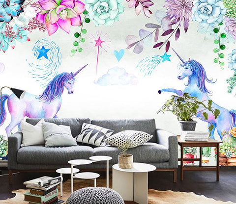 3D Dream Unicorn 335 Wall Muralsurals