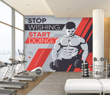 3D Dumbbell Men 288 Wall Murals
