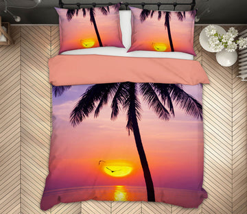 3D Sunset On The Beach 144 Marco Carmassi Bedding Bed Pillowcases Quilt