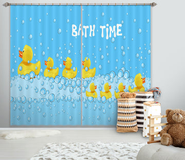 3D Little Yellow Duck 794 Curtains Drapes