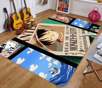 3D ONE PIECE 121 Non Slip Rug Mat Mat AJ Creativity Home