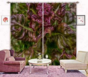 3D Red Leaf 012 Jerry LoFaro Curtain Curtains Drapes