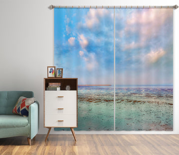 3D Sky Seaside 80170 Studio MetaFlorica Curtain Curtains Drapes