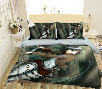 3D Attack On Titan 1775 Anime Bed Pillowcases Quilt Quiet Covers AJ Creativity Home