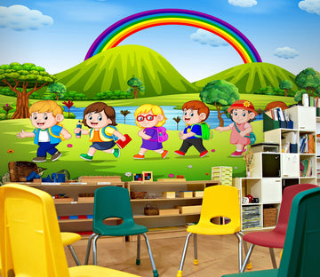 3D Cute Rainbow 187 Wall Murals