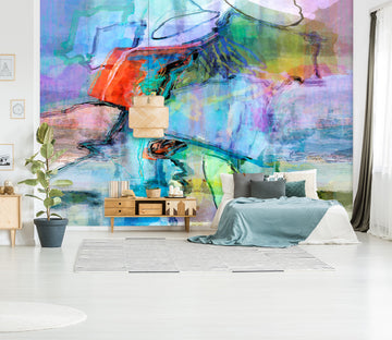 3D Abstract River 1519 Michael Tienhaara Wall Mural Wall Murals