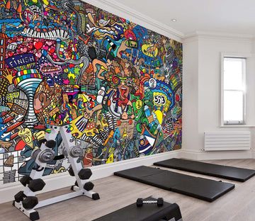 3D Color Graffiti 266 Wall Murals