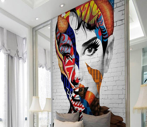 3D Colored Beauty 331 Wall Murals