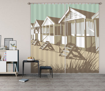 3D Southwold Huts 153 Steve Read Curtain Curtains Drapes