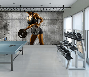 3D Fitness Iron 299 Wall Murals