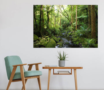 3D Forest River 1091 Wall Sticker