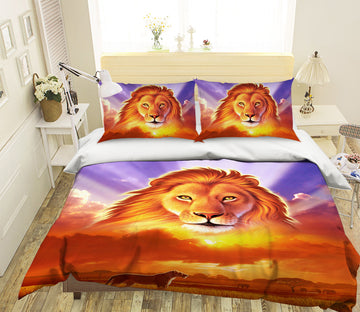 3D Lion King 2126 Jerry LoFaro bedding Bed Pillowcases Quilt