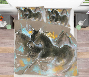 3D Running Horse 2013 Anne Farrall Doyle Bedding Bed Pillowcases Quilt