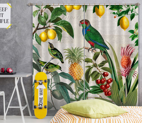 3D Fruit Paradise 057 Andrea haase Curtain Curtains Drapes