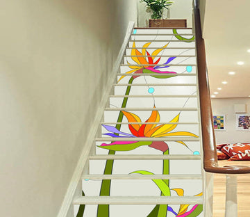 3D Flowers 291 Stair Risers Wallpaper AJ Wallpaper