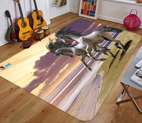 3D Run Seaside Unicorn 34 Non Slip Rug Mat Mat AJ Creativity Home