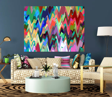 3D Colored Wavy 71124 Shandra Smith Wall Sticker