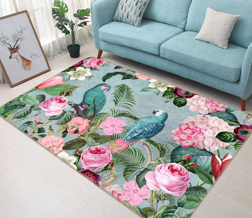3D Bird Friends 1028 Andrea haase Rug Non Slip Rug Mat Mat AJ Creativity Home
