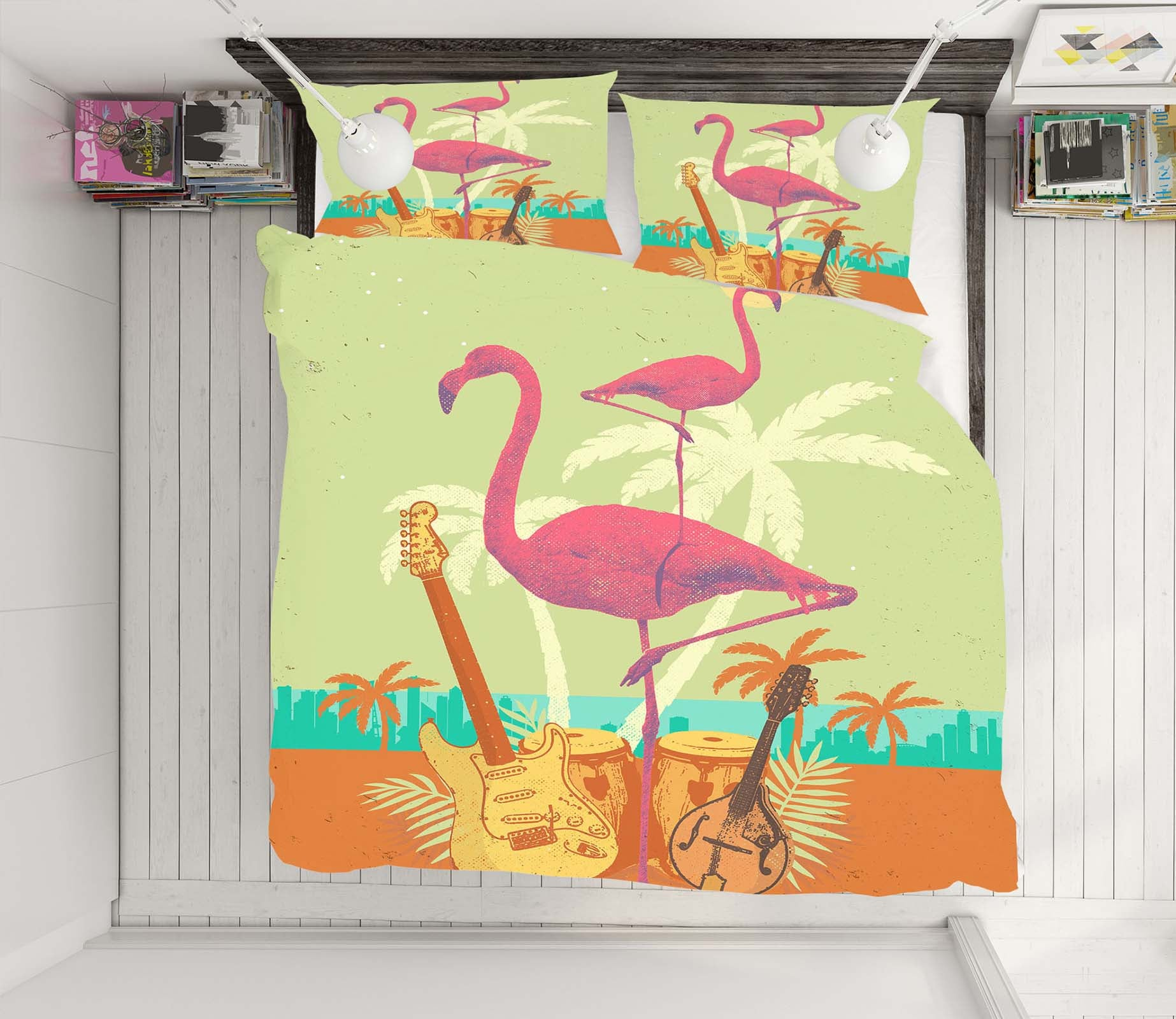 3D Flamingo Flock 2117 Showdeer Bedding Bed Pillowcases Quilt
