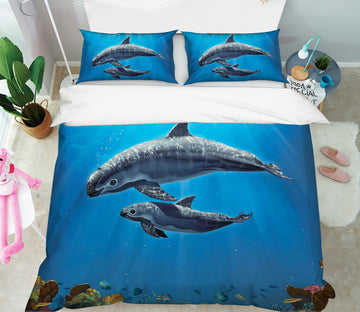 3D Vaquita Critically Endangered 098 Bed Pillowcases Quilt Exclusive Designer Vincent