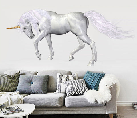 3D Horn Of Unicorn 007 Animals Wall Stickers