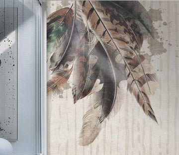 3D Rich Feather Decoration 2610 Wall Murals
