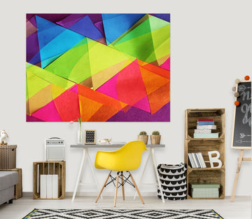 3D Colored Triangle 71120 Shandra Smith Wall Sticker