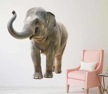 3D Playful Elephant 178 Animals Wall Stickers