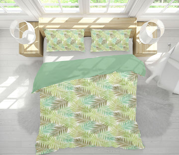 3D Palm Leaves Spring 072 Studio MetaFlorica Bedding Bed Pillowcases Quilt