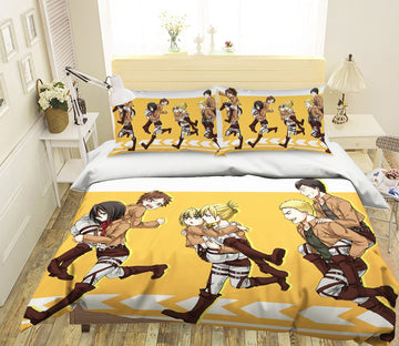 3D Attack On Titan 1636 Anime Bed Pillowcases Quilt Quiet Covers AJ Creativity Home