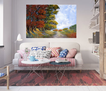 3D Forest River 012 Michael Tienhaara Wall Sticker