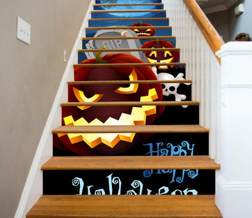 3D Mr. Strange Pumpkin 650 Stair Risers