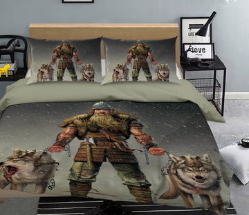 3D Mountain Viking 062 Bed Pillowcases Quilt Exclusive Designer Vincent
